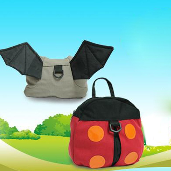 Baby Harness Backpack Leashes Bat Children Kids Cartoon Adjustable Anti-lost Walker Wings Harness Reins Assistant Safety Belt