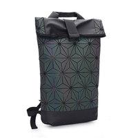 Luminous Backpacks Folding Portable Fashion Women Men Daily Bags Backpack New 2018 Geometric Joint Rucksack Girls