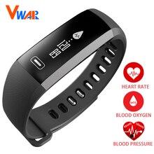 Оригинал Vwar R5 PRO Смарт запястье Кровяное Давление Кислорода Оксиметр Сердечного Ритма Спортивные Часы Браслет умный Для iOS Android