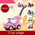 Andador glide walker niños de coche de juguete de cuatro del coche empuje yo shilly coche coche 1-3 años