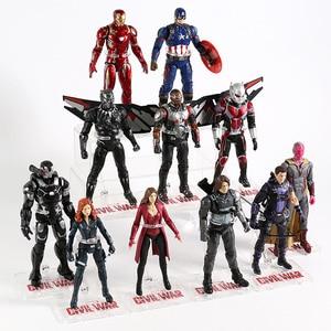 Image 3 - נוקמי איש ברזל קפטן אמריקה Ant Man האלק ספיידרמן שחור אלמנה פנתר סקרלט מכשפה ראיית תאנסו פעולה איור צעצוע