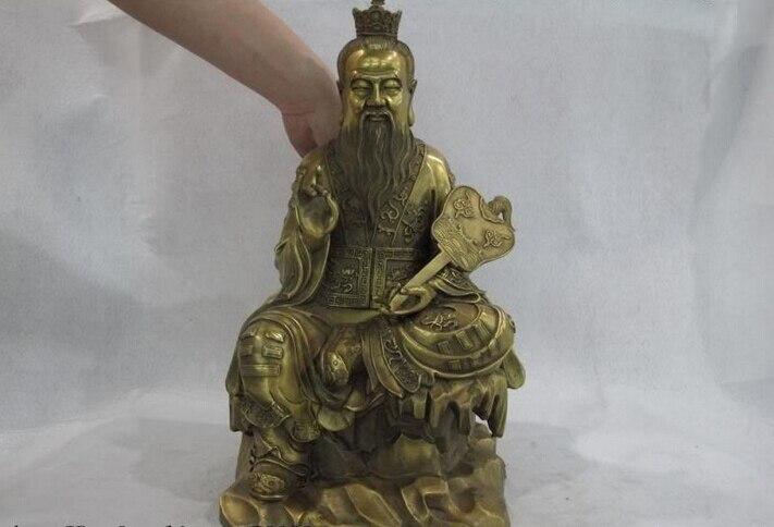 USPS to USA S0521 China Taoism Leader Brass Copper Seat High Lord Lao jun Taoist God Buddha Statue (B0328)USPS to USA S0521 China Taoism Leader Brass Copper Seat High Lord Lao jun Taoist God Buddha Statue (B0328)