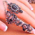 Colorido Resina Anéis Turcos Jóias Finas das Mulheres Anéis de Ouro Antigo anel de Ouro Peru Real Do Vintage Amor Anillos Anéis de Casamento