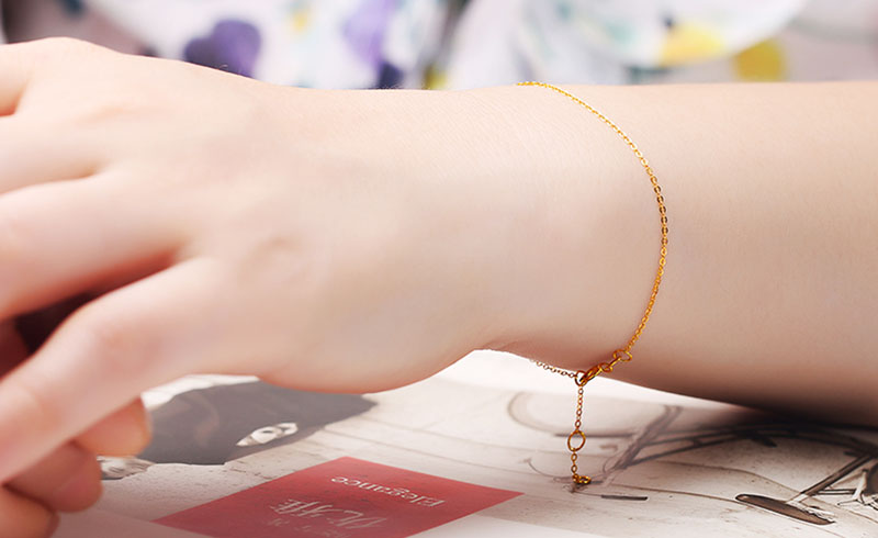 18k Au750 gold chain bracelet (8)