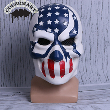The Purge 3 Mask Halloween Election Year American Flag Stars & Stripes Resin Helmet New Party Prop