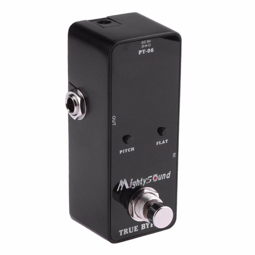 PT-06 Mini Tasche Chromatic Tuner B0-B6 effektpedal Gitarre baby tuner stompbox Hohe empfindlichkeit präzision Mighty Sound display