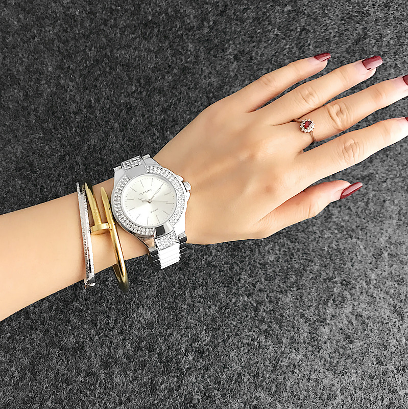 Fashion Casual Clock Silver Bracelet Watch Women Rhinestone Watches Women's elegant Quartz Wrist Watch relojes mujer brand new 2016 fashion ladies casual watches rhinestone bracelet watch women elegant quartz wristwatch silver clock