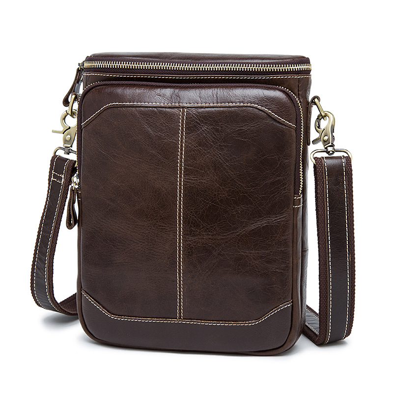Vintage männer Schulter Taschen Zipper Messenger Tasche männer Echte Leder Tasche Männlichen ipad Umhängetaschen für Männer handtaschen