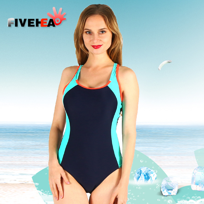 one-piece women swimwear sexy sling halter sporty style striped solid color large size bathing swimsuit push up female patchwork bridgestone my 02 sporty style б у