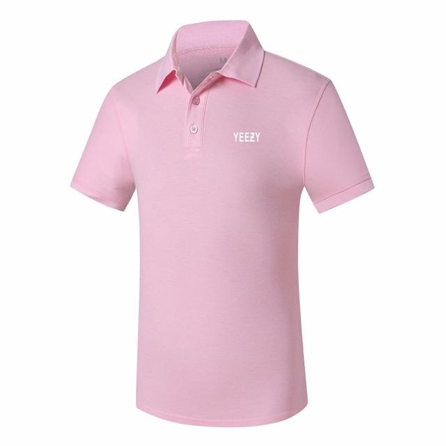Camisa de polo masculino de verano de algodón yeezy impreso ropa de manga corta polo camisa de marca para hombre polo mujer polo de los hombres camisa