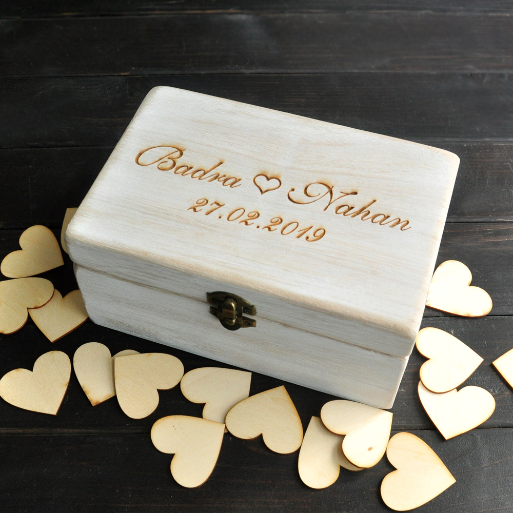Personalized Wedding Keepsake Box,Alternative Wedding Guest Book ...
