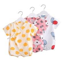 Newborn Baby Summer Clothing Short Sleeved Cartoon Rabbit Rompers New Born Cotton Climbing Jumpsuit Infant Pajama Costumes
