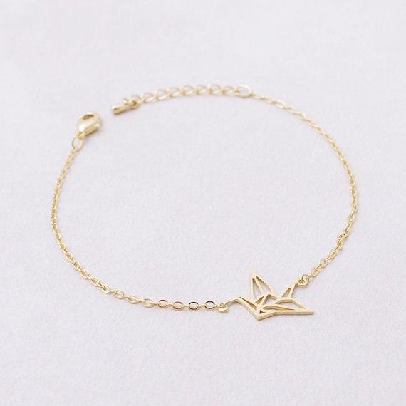 shuangshuo link chain animal origami crane bracelet for. Black Bedroom Furniture Sets. Home Design Ideas