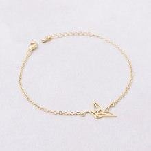 Chain Animal Origami Crane Bracelet for Women