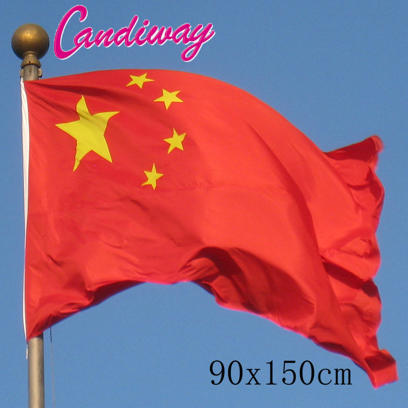 90 X 150cm China Flag New Hanging Chinese National Flag Banner Indoor  Outdoor Home Decoration NN060