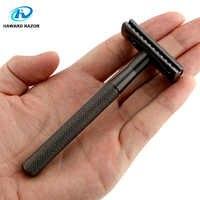 HAWARD Shaving Razor Pure Copper Safety Razor Head and Handle Gift 10 Blades Razor For Men
