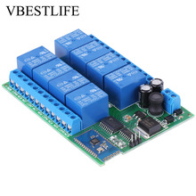 цена на 12V 8-Channel Relay Module Bluetooth Remote Control Relay Switch Board for Android