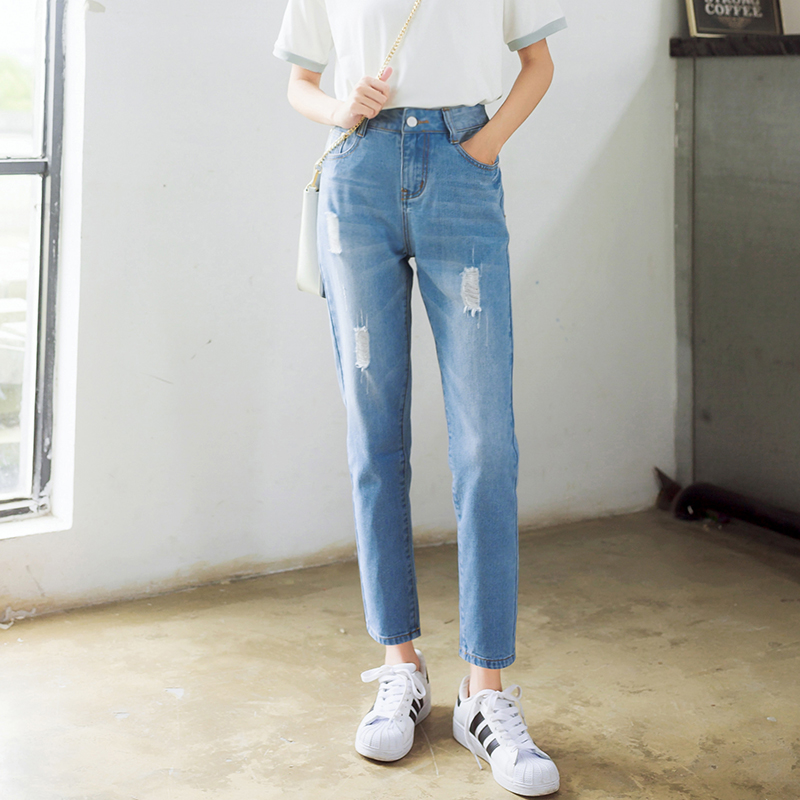 fc609ad145dec Ripped Jeans For Women Jeans Boyfriend 2016 Plus Size Jeans With Holes  Summer Style Denim Capri Cotton Harem Jeans-in Jeans from Women s Clothing    ...
