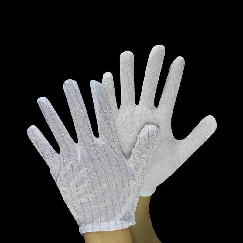 Anti-static Anti-skid White Gloves ESD BGA Repairing Soldering Working Antiskid New Polyester Glove