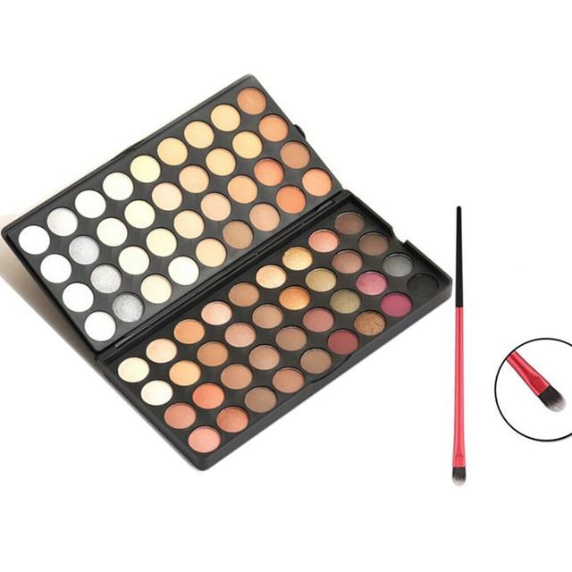 2016 nuevos 72 colores paleta de sombra de Warm mate sombra de ojos completo profesional Kit de maquillaje con la belleza compone el cepillo