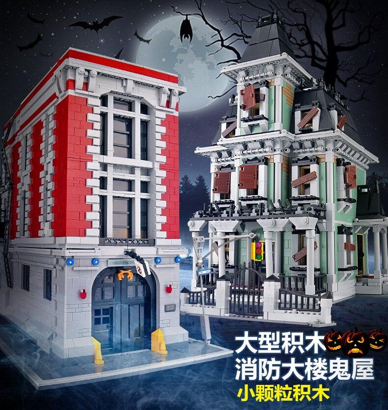 Ghostbusters Créateur La Caserne Copyright Siège 4705 pcs Créateur Blocs de Construction Jouets Éducatifs Compatible avec Legoings 75827
