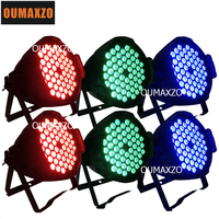 6pcs/lot indoor par 54 pcs leds 3in1 3w DMX light 54 3 watt par led LED 54pcs 3w LED Par Lights 200 watt Rgb 3in1 PAR Dmx512
