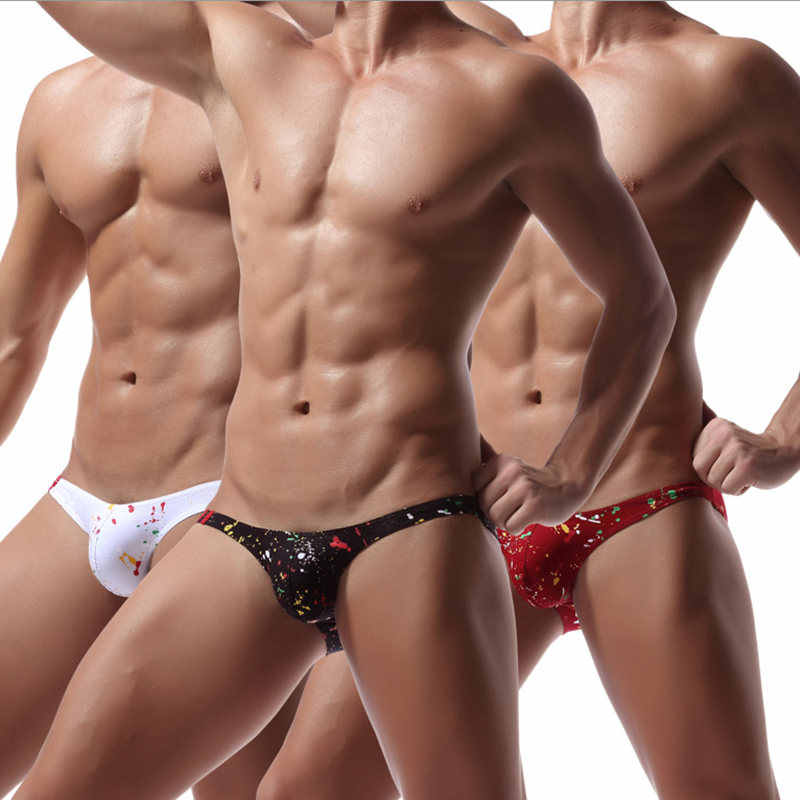 5 adet/grup erkek iç çamaşırı Mini külot seksi erkek külot eşcinsel erkekler Bikini süper yumuşak kısa renkli baskı cesur kişi bielizna meska