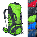 Unisex Large 80L Backpack Travel Bags Waterproof Rucksack Backpack Nylon Mountaineering Bag With Bracket
