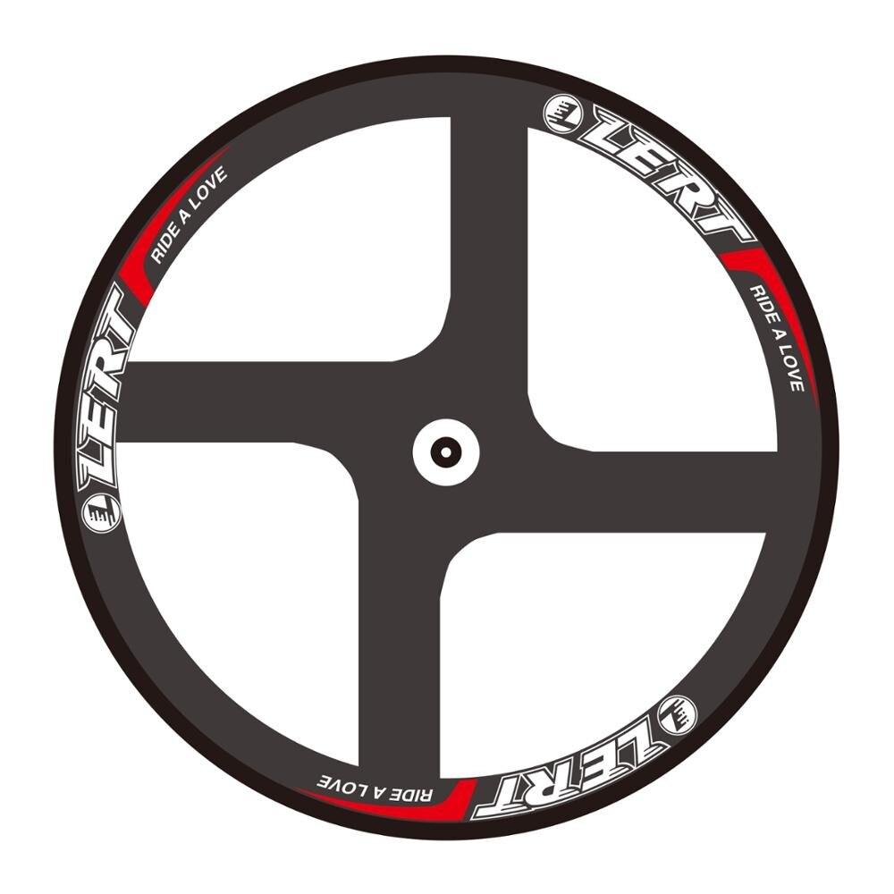 LERT 700C vélo de route à pignon fixe 3 K UD 12 K vélo en fibre de carbone complet 4 rayons roues jante tubulaire en carbone livraison gratuite