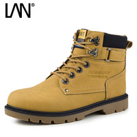 Fashion 2016 Men Ankle Boots Lace Up Men Martin Boots Comfort Casual Male Outdoor Boots Shoes