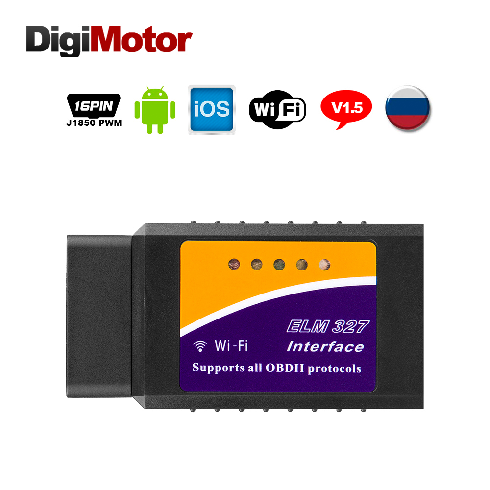 ELM 327 Wifi Adapter Scanner diagnostic-tool Wi Fi OBDII OBD2 ELM327 Wi-Fi Scan Tool Car Escaner Automotivo For iPhone iPad