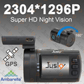 2304*1296P Super HD Night Vision Car Camera Jusky Mini 0806 Ambarella GPS Car DVR Dash Camera Digital Video Recorder Camcorder