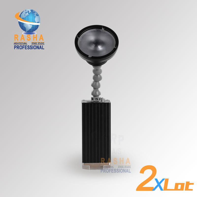 2pcs/ LOT 10W ZOOM Warmwhite Cree Battery Powered LED Pinspot Light With IR Remote Control Magnetic LED Flashlight For Stage