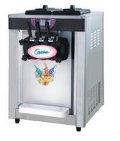 Indoor two and one twisted 22L table top automatic ice cream making machine ice maker with 3 dischargers
