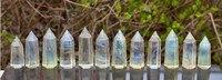 (12 pcs/lot) éperlan quartz POINT de GUÉRISON WAND