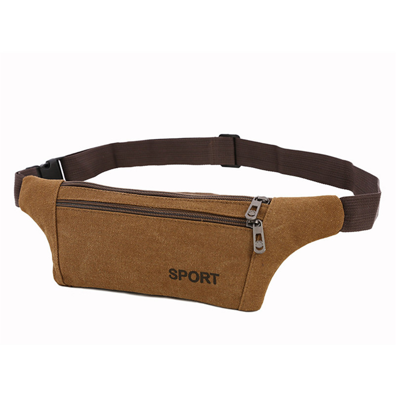 Mens Waist Chest pack Bags Unisex Fashion Solid Canvas Crossbody Shoulder Bag Paquet de coffre Paquete de pecho Chest Bag A90