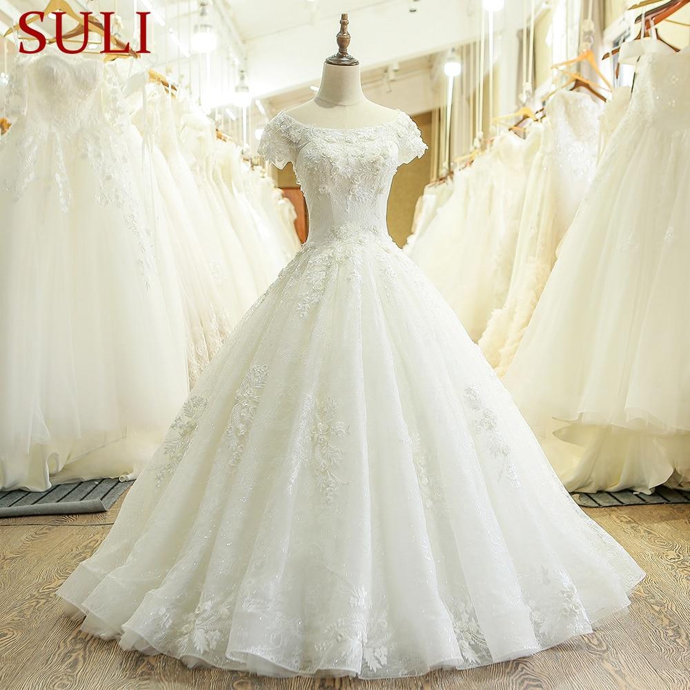 SL-201 New Arrival China Ball Gown Wedding Dress 2017 Vestido De Noiva(China)