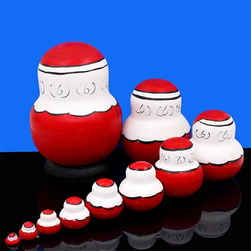 Poupées russes 10 couches jouets en bois de haute qualité Basswood sec 10 pièces Matryoshka poupée nid éducation jouets L50 - 3