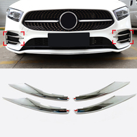 Car Styling Exterior Front Fog Light Lamp Frame Decoration Cover Trim 4pcs For Mercedes Benz A Class AMG Line 2019