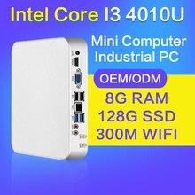 XCY мини-ПК Core i3 4010U 4 г ОЗУ 512 г SSD HTPC Wi-Fi 6 * usb тонкий клиент настольных компьютеров Безвентиляторный ПК Windows 10 Linux Ubuntu неттоп