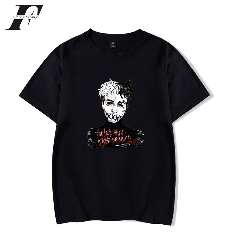 2018 R.I.P Xxxtentacion T shirts Men women Summer short sleeve hit hop Tshirt Rapper Xxxtentacion T-shirt Casual White T-shirt ...