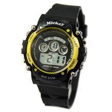 Disney бренда Микки Цифровые Наручные Часы Дети 50 м водонепроницаемый плавать Мальчик девушка календарь будильник Хронометраж Световой