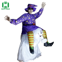 Inflatable Ghost Halloween Costume Fancy Dress Suit Party Halloween Christmas Costume Carnival Inflatable Witch Halloween