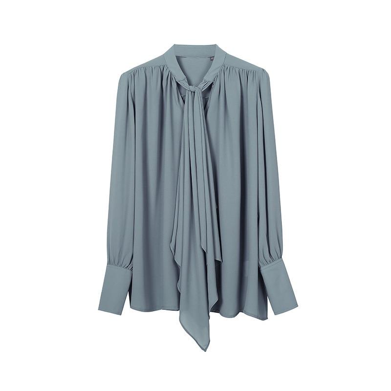 Manches longues chemises Blouse femmes col montant hauts femme élégant décontracté lâche hauts et chemisiers mode vêtements 2019 printemps Blusa - 5