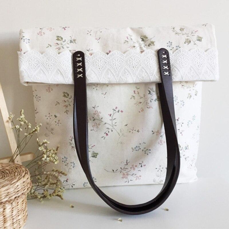 THINKTHENDO 1Pair Fashion Handles for Handbag DIY Bag Accessories Short Straps Sewing Craft Faux leather