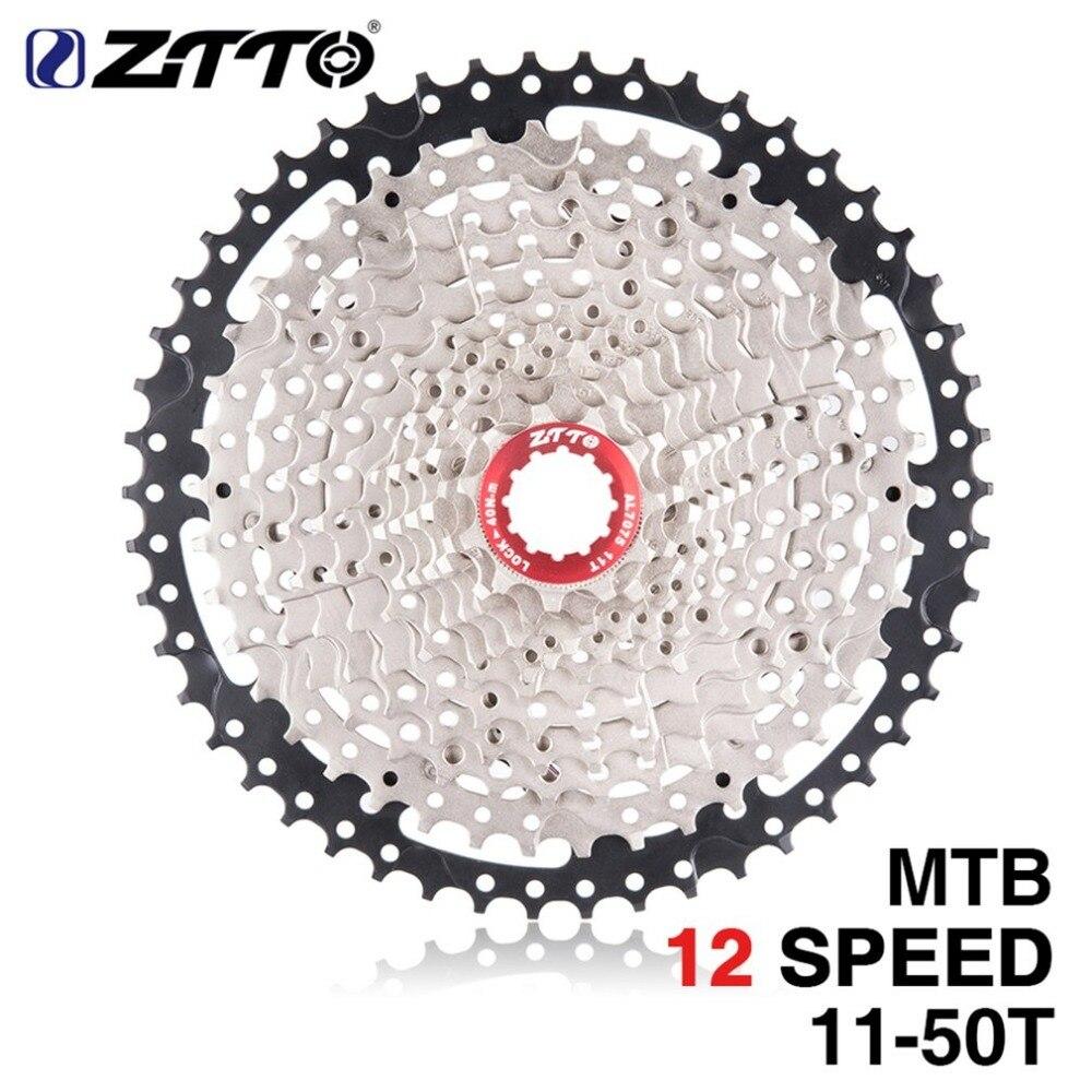 ZTTO 12 vitesses Cassette 11-50 T Compatible vélo de route système Sram haute résistance en acier pignons pliant argent noir engrenage