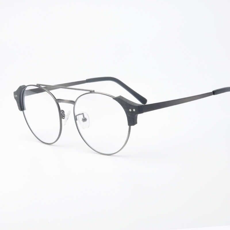 8f51d1b89f8 ... Hot Lunettes de vue Round vintage glasses frame Men Transparent Women  Eyeglasses Frame Brand designer high