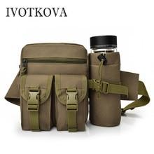 IVOTKOVA High Quality Multifunction Men Canvas Bag Casual Travel Bolsa Masculina Men's Crossbody Waist Bag Men Messenger Bags стоимость
