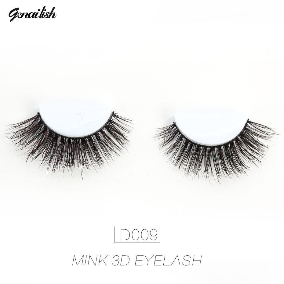 Genailish 3D Mink Lashes Viltus skropstas Long Thick Dramatic Make Up - Meikaps