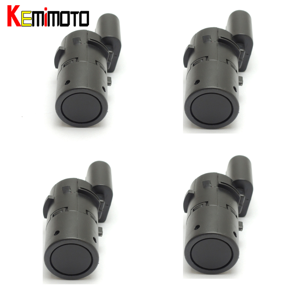 KEMiMOTO 4 Pieces 7H0919275E PDC Parking Sensor For Audi c5 parking sensor a6 c6 7H0919275E,7H0919275B radiator cooling fan relay control module for audi a6 c6 s6 4f0959501g 4f0959501c